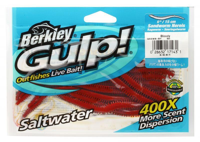 Силиконовая приманка Червь Berkley Gulp! Saltwater Nereis
