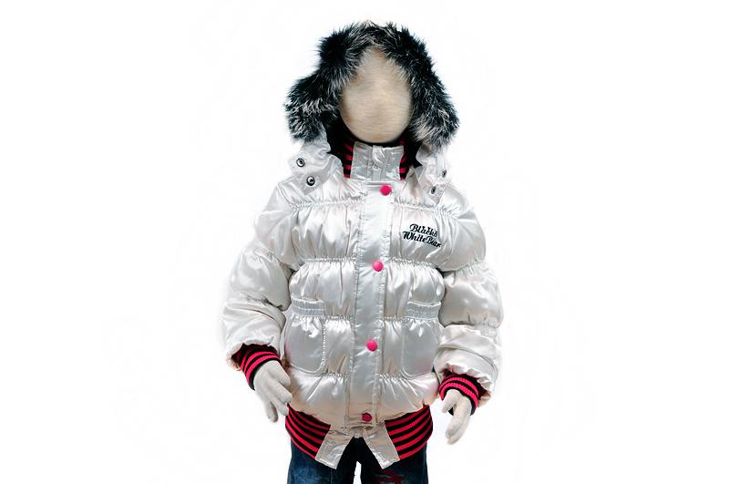 Пуховик для девочки (100-140см) 005(2)белый