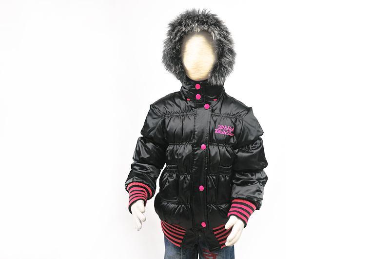 Пуховик для девочки (100-140см) 005(3)черный