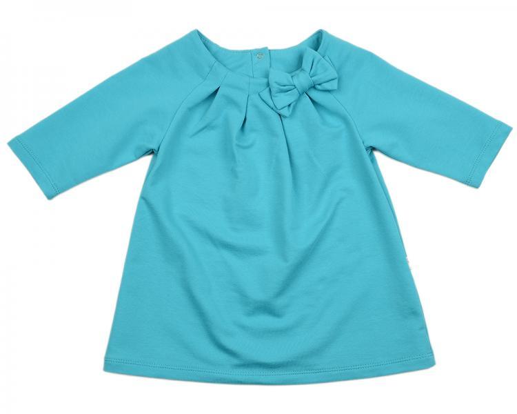 Платье с бантом (98-116см) UD 1001(4)бирюза