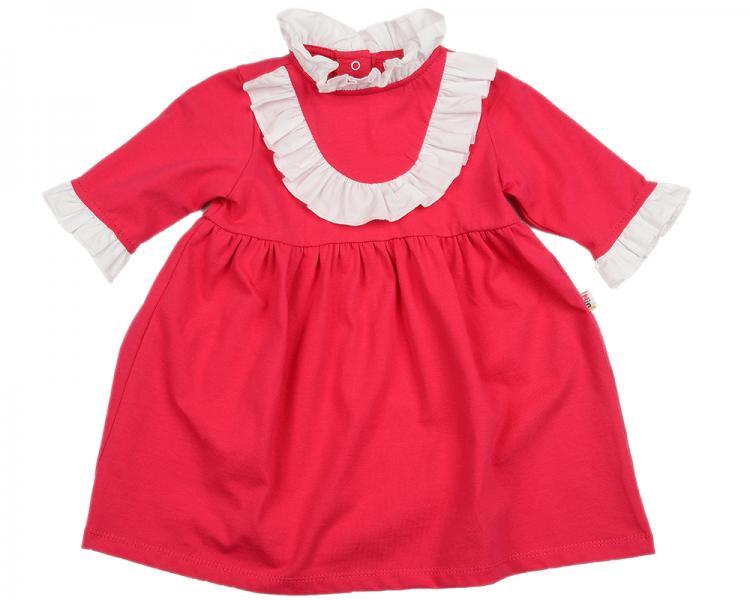 Платье с рюшами (80-92см) UD 0885(2)малина