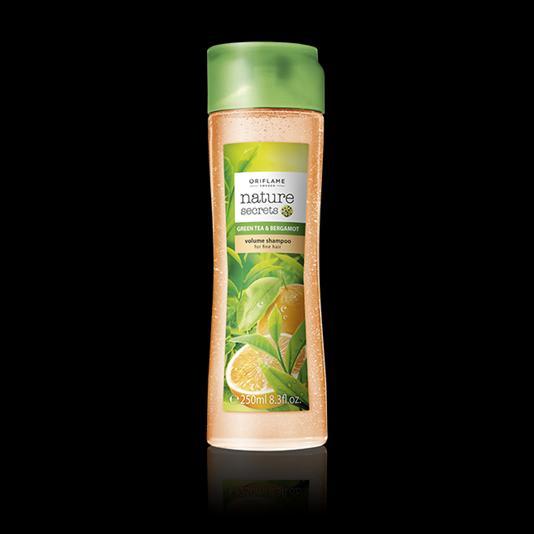 (31233)Шампунь-объем для тонких волос «Зеленый чай и бергамот»