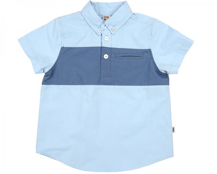 Рубашка с кор/рукавом (92-116см) UD 0497(4)голубой