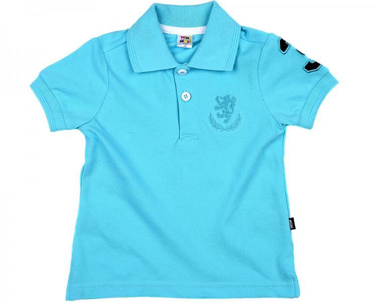 Рубашка-поло (92-116см) UD 0701(4)голубой