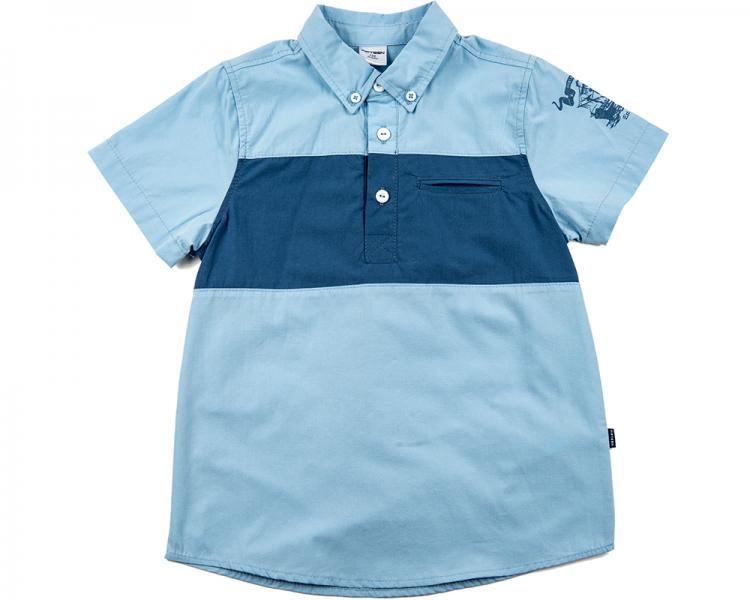 Рубашка с кор/рукавом (122-146см) UD 0497(2)голубой