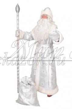 """Костюм """"Дед Мороз"""" серебро"""