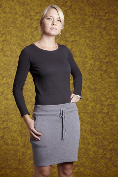 А01 Трикотажная юбка 40 см на шнурке
