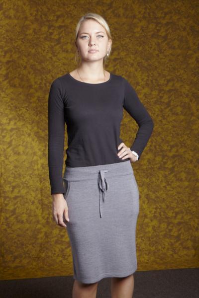 A02 Трикотажная юбка 55 см на шнурке