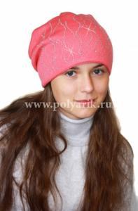 Фото Зима, От 10 до 16 лет Шапка подростковая (ФЛИС- подклад) - Артикул DH-028 - Производитель