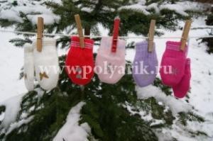 Фото Перчатки/варежки, Варежки Варежки детские (х/б подклад) Польша - Артикул 1555 - Производитель Margot Bis
