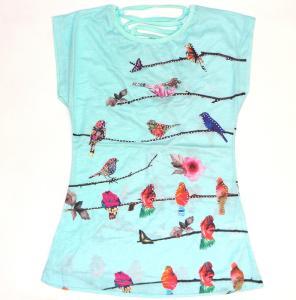 Фото Подростковая одежда, Туники для девочек  туника трикотажная для девочек Птица