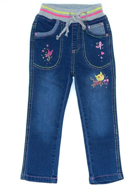 джинсовые брюки для девочек
