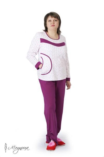 Пижама с брюками 58-64