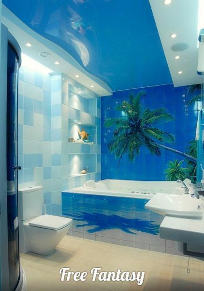 """""""Дизайнерская плитка"""" для ванных комнат с фото-изображением"""