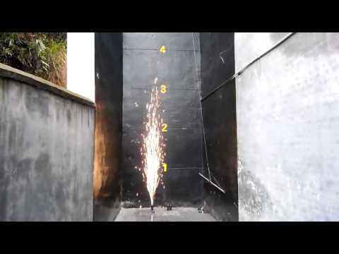 Концертный пиротехнический фонтан 3 метра 30 секунд