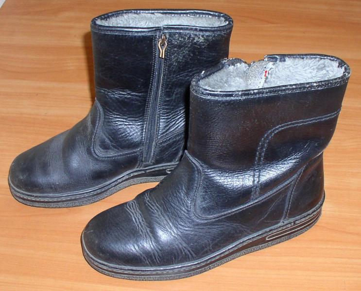 Сапоги мужские кожаные *2718