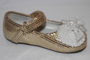 Фото Туфли, Праздничные туфли для девочек, до 25 Туфли 968-1 gold