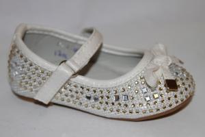 Фото Туфли, Праздничные туфли для девочек, до 25 Туфли F-001 wh