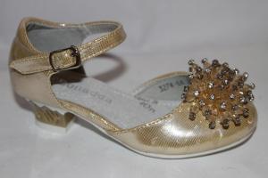 Фото Туфли, Праздничные туфли для девочек, до 32 Туфли 3274-6А золото