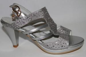 Фото Туфли, Праздничные туфли для девочек, до 38 Босоножки Н38-Е39 SILVER