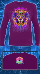 Фото Футболки мужские длинный рукав Cyber Lion (Светится в ультрафиолете)
