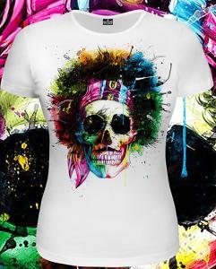 Фото Футболки женские Hippy Skull (Светится в темноте и ультрафиолете)
