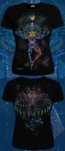 Фото Футболки женские Mechanical Lotus (Светится в темноте и ультрафиолете)