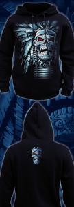 Фото Толстовки, Толстовки мужские Череп Вождя (Светится в ультрафиолете)
