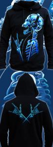 Фото Толстовки, Толстовки мужские X-Skeleton (Светится в темноте и ультрафиолете)