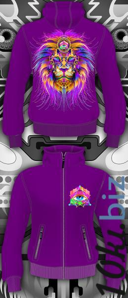 Cyber Lion (Светится в ультрафиолете) Толстовки, пайты и регланы женские в Москве