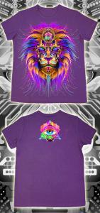 Фото Подростковые футболки GOOD Cyber Lion (Светится в ультрафиолете)