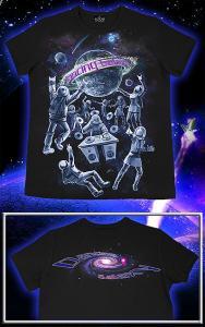 Фото Подростковые футболки GOOD Dancing Galaxy 2 (Светится в темноте и ультрафиолете)