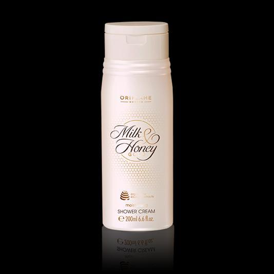 (31605)Увлажняющий крем для душа «Молоко и мед – Золотая серия»