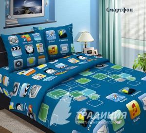 Фото Постельное белье, Из бязи, 1,5 спальное Традиция 1,5 Смартфон