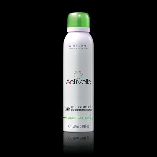 (30333)Спрей дезодорант-антиперспирант 24-часового действия с экстрактом зеленого чая «Активэль»