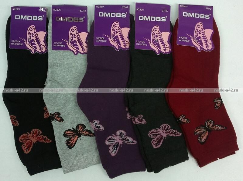 """""""Бабочка"""" носки женские внутри махра"""