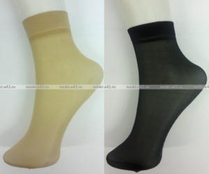 Фото Женские носки оптом Носки женские эластик чёрные с
