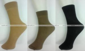 Фото Женские носки оптом Крабро носки женские микрофибра с лайкрой чёрные Miss уплотненные