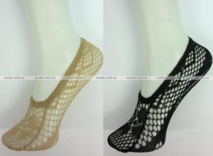 Фото Женские носки оптом Корея подследники женские ажурные чёрные