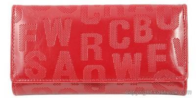 Кошельок Canevo 19*9,5 красный