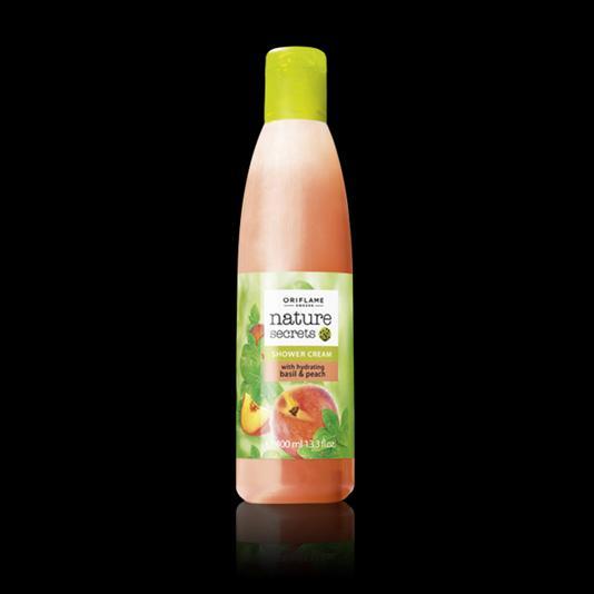Увлажняющий крем для душа «Базилик и персик». Большой объем 30013