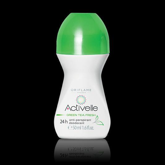 (30332)Шариковый дезодорант-антиперспирант 24-часового действия с экстрактом зеленого чая «Активэль»