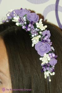 Фото Ободки с цветами Фиолетовый ободок