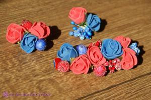 Фото Прочие аксессуары с цветами Брошка с розочками
