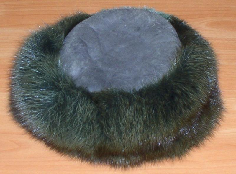 Шапка зимняя женская (кожа, песец) *2909