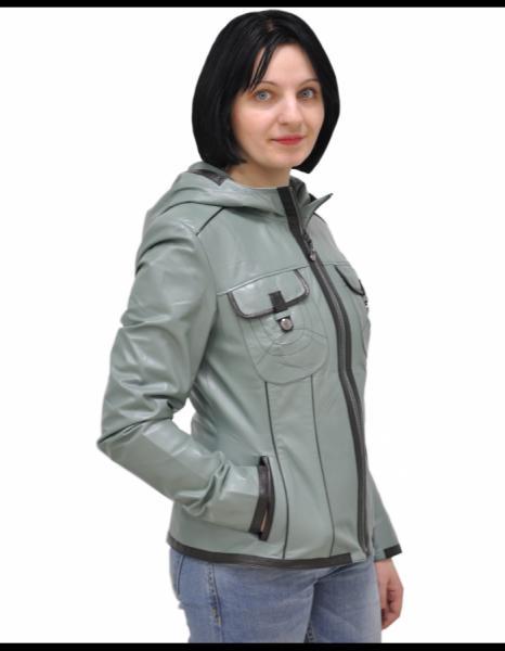 Кожаная куртка (серый)