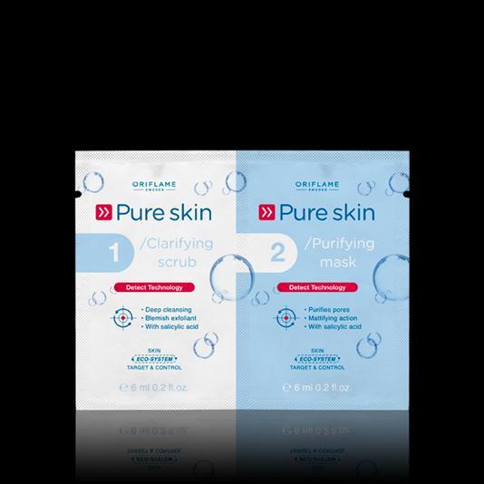 (22418)Скраб и очищающая маска для кожи лица «Код чистоты»