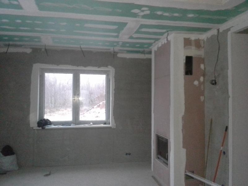 Шпатлевка стен и потолков, окраска аппаратом высокого давления