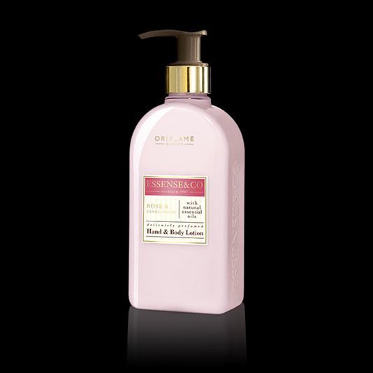 (31854)Лосьон для рук и тела с розой и сандалом Essense & Co