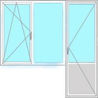 Фото Пластиковые окна ПВХ Форма № 8